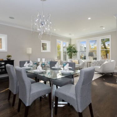 dining room by home addition contractor