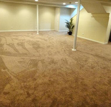 drywall and carpet by basement finishing remodeling contractor