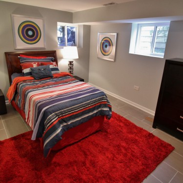 bedroom by basement finishing remodeling contractor