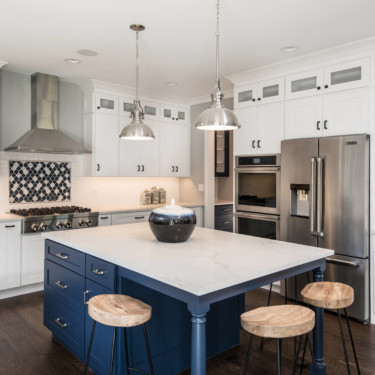 Chicago New Home Builder shows new Kitchen
