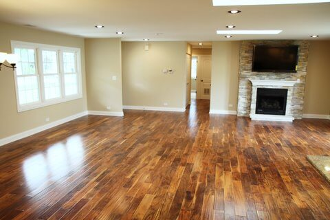 floors installed by home remodeling contractor